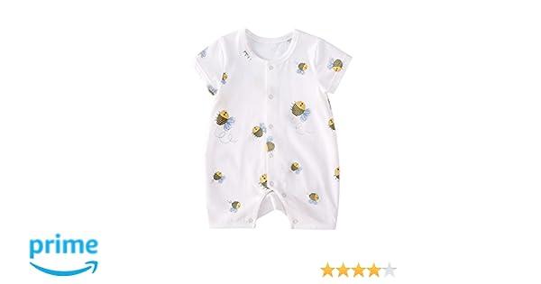 a1d9775c459c Amazon.com  pureborn Infant Short Sleeve Bodysuit Cute Cartoon ...