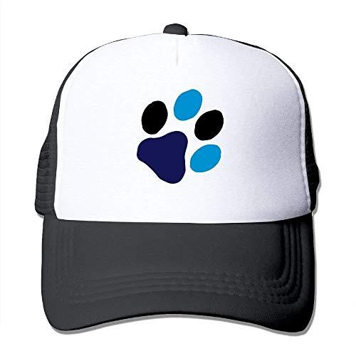 ZOZGETU Cute Cat Paw Print Big Foam Snapback Caps Mesh Back Adjustable Cap Baseball Cap ()