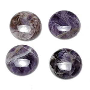 A Grade Amethyst 25mm Coin-Shaped Flat-Backed Cabochon Wire-Wrapping CA16682-8