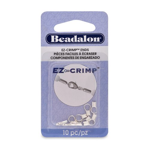 Plated Crimp Ends (Beadalon EZ-Crimp End Nickel Free Silver, Plated, 10-Piece)