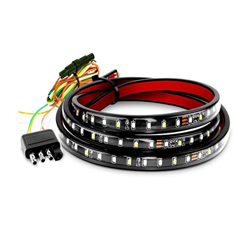 Henzxi Tailgate Light Bar 60-inch LED Strip Turn Signal Brake Reverse Taillight for Truck Pickup RV SUV VAN Trailers Car Towing Vehicle Waterproof No Drill