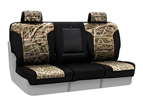 Coverking Front 40/20/40 Bench Custom Fit Seat Cover for Select GMC Sierra 2500 HD/3500 HD Models - Neosupreme (Mossy Oak Camo Shadow Grass Blades with Black Sides) (Bench Front Shadow)