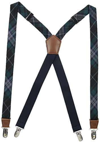 Dockers Men's 1 Inch Plaid Suspenders