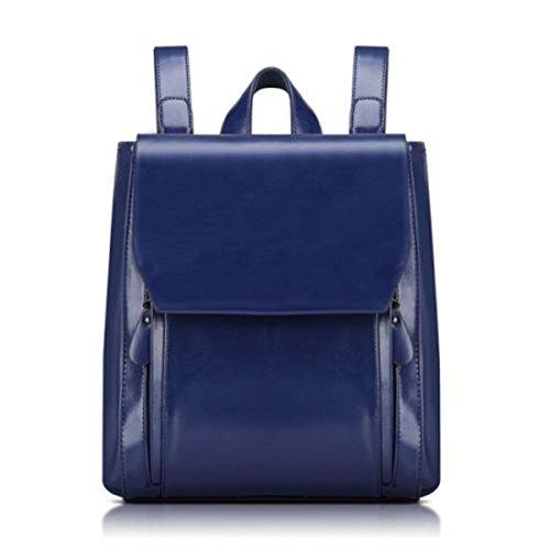 sfpong - Bolso mochila  para mujer blanco beige large Blue-02