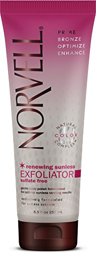 Norvell Pre Self-Tanning Renewing Sunless Exfoliator Body Scrub - Sulfate-free, 8.5 fl.oz. (Best Body Exfoliator For Self Tanning)