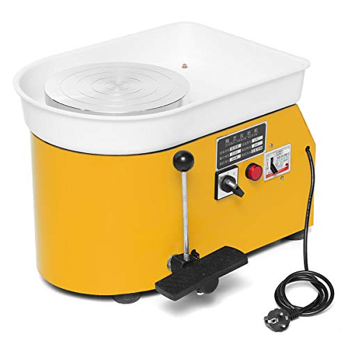 250W 220V Electric Pottery Wheel Machine Ceramic Machine Ceramics Clay Foot Pedal Art Ceramic (Pottery Wheel For Kids Best Rated)