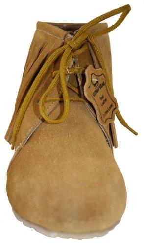 Kastanienbraun Western echtleder Schuhe Trachtenschuhe Wildleder Ocker Indianer Cowboy 0wr0qZ