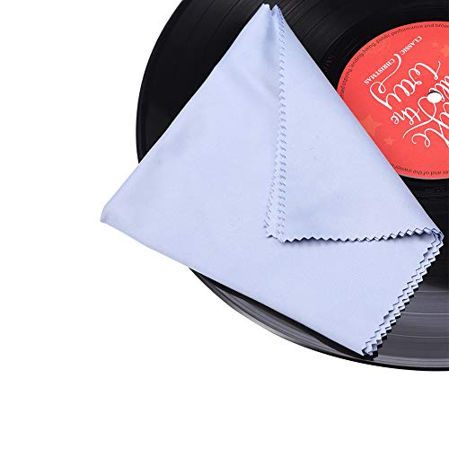 Gartopvoiz Record Cleaning Cloth, 6 Pack 12''x12'' Anti-Static Microfiber Towel Lint-Free Cleaner for LP Record Vinyl ()