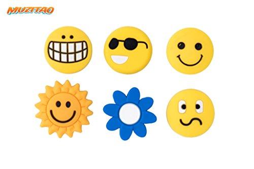 Tennis Vibration Dampeners Smileys (6 - Tennis Ball Sunglasses