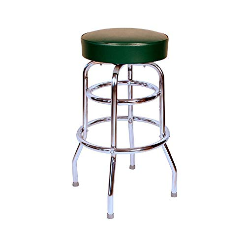 Richardson Seating Double Rung Backless Swivel Bar Stool with Chrome