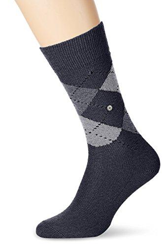 Burlington Men's 1 Pair Preston Extra Soft Argyle Socks 7-12 Dark Grey/Light - Men Burlington