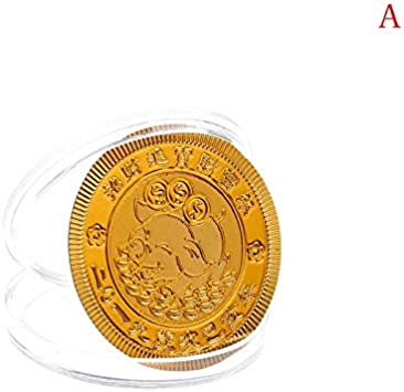 Year of the Pig Souvenir Coin Chinese Zodiac Collection Coin Lucky Character HU