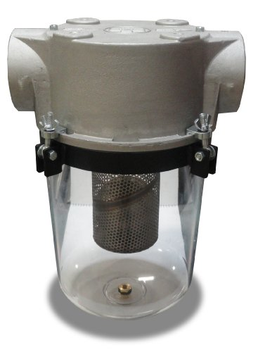 Solberg STS-400C See Through Liquid Separator, 4'' FPT Inlet/Outlet, 19-3/4'' Height, 13-1/2'' Diameter, 500 SCFM by Solberg