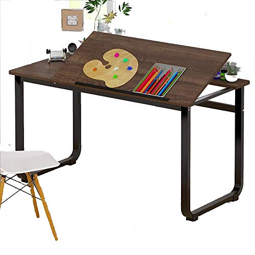 Computer Desktop Book Table Home Use Student Bedroom Study Writing Floor-Standing Workbench, Oak Color, 1005072cm