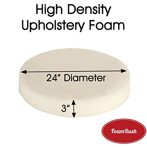 "FoamRush 3/""x24/""x24/"" High Density Upholstery Foam Cushion Made in USA"