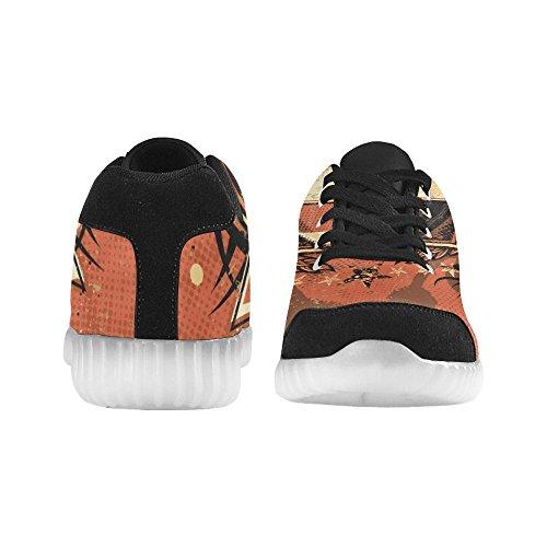D-story Spöklika Händer Mode Sneakers Lyser Mens Skor Multicoloured34