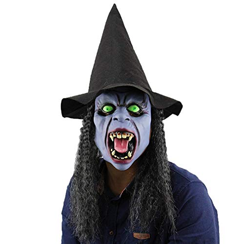 Costume Party Props,Halloween Horror Witch Masks(Dark Night Witch -
