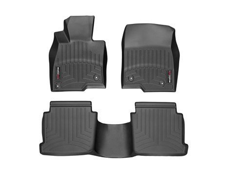 2014-2015 Mazda Mazda3-Weathertech Floor Liners-Full Set (Includes 1st and 2nd Row) Black