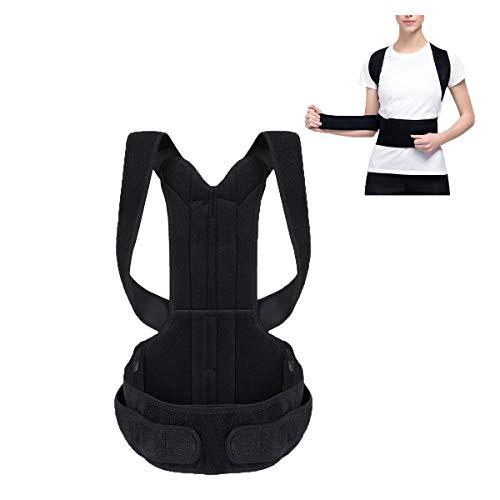 Elejolie Comfort Posture Corrector Adjustable Support Back Brace Improve Posture Back Pain Provides Lumbar Support for Men and Women
