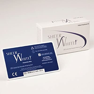 Teeth Whitening Strips - Sheer White! 20% Professional Teeth Whitening Strips Films Kit