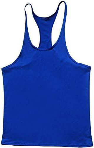 タンクトップ メンズ メンズコットンベストラウンドネックI字型ノースリーブ速乾性の服ストレッチTシャツ通気性のベスト 夏 スポーツ フィットネス (色 : C3, Size : XL)