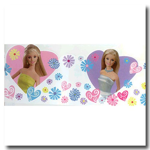 BARBIE Murals Glamour Stick-Ups Wallpaper Border (Barbie Mural)