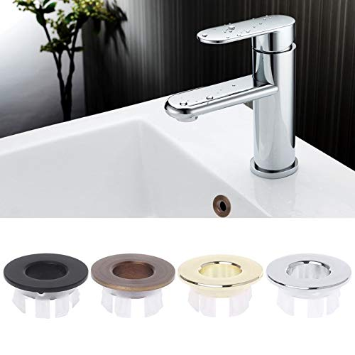 Bathroom Basin Sink Overflow Ring Six-foot Round Insert Chrome Hole Cover Cap Clients First Bath Hardware Sets