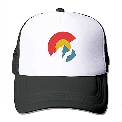 Waldeal Colorado Flag Mesh Cap Unisex Adult-one Size Snapback Trucker Hats Black