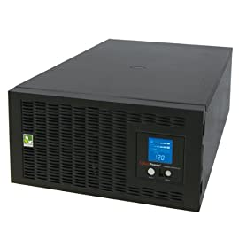 CyberPower PR5000LCDRTXL5UTAA Smart App Sinewave UPS System, 5000VA/4000W, 5 Outlets, AVR, Rack/Tower, TAA Certified 52 5000VA / 4000W Pure Sine Wave UPS - Pure Sine Wave UPS - designed to support Active PFC power supplies and conventional power supplies Line-Interactive Topology. Full AVR Buck/Boost & GreenPower UPS 5U Rack Mount/Tower convertible. Multi-function rotatable LCD display