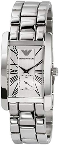 Emporio Armani Men's AR0145 Classic Stainless Steel Roman Numeral Dial ()