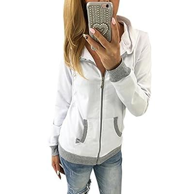 Clearance Sale! Women Sweatshirt,Canserin Women Zipper Hoodie Tops Autumn Winter Hooded Sweatshirt Coat Jacket