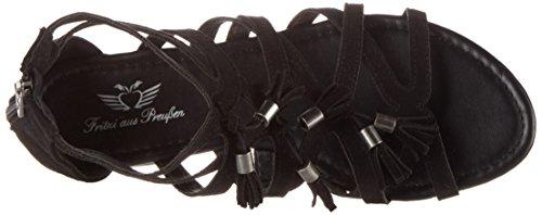 Fritzi aus Preussen Fashion Sandals 06 - Sandalias con cuña Mujer Schwarz (Black)