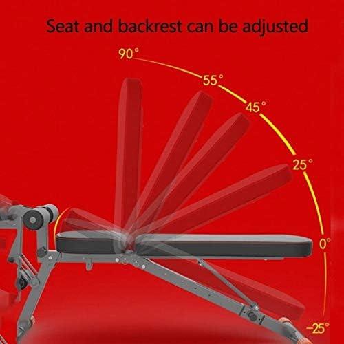 USTHOY アジャスタブルベンチフィットネスチェア折り畳み式の重量ベンチホームフィットネス機器の多機能シットアップベンチフィットネスジムスツール品質積載重量 (Color : Black, Size : 141x38x49cm)