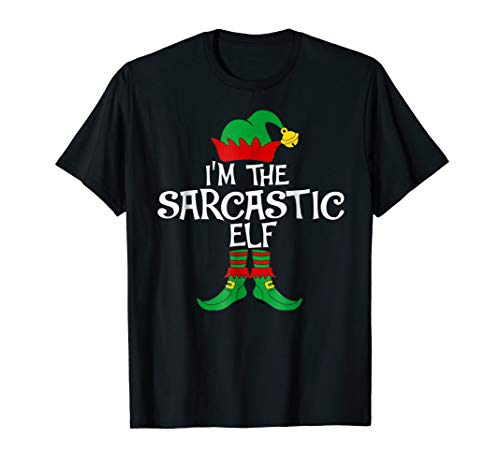 Funny Im The Sarcastic Elf Costume Gift Family Group -