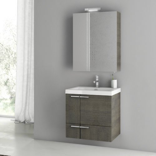 ACF ANS148-637509916961 New Space Collection Vanity Set, Grey Oak