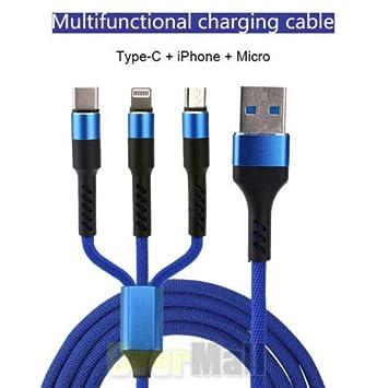 ETbotu Cable Multiple Cable de Carga USB rápido Universal 3 ...
