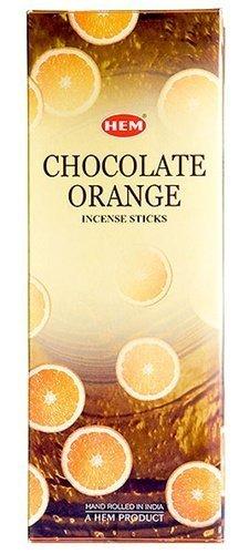 Chocolate Orange - Box of Six 20 Stick Tubes - HEM - Jelly Covered Orange Chocolate