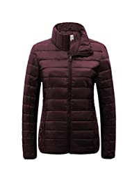 SUNDAYROSE Womens Packable Jacket Lightweight Puffer Quilted Coat