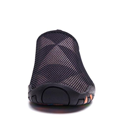 Skysun Wasserschuhe Mens Womens Slip auf Wasser Aqua Schuhe Quick Dry für Schwimmen, Yoga, See, Strand, Schnorcheln, Bootfahren Skw1003-2-bk / Bn