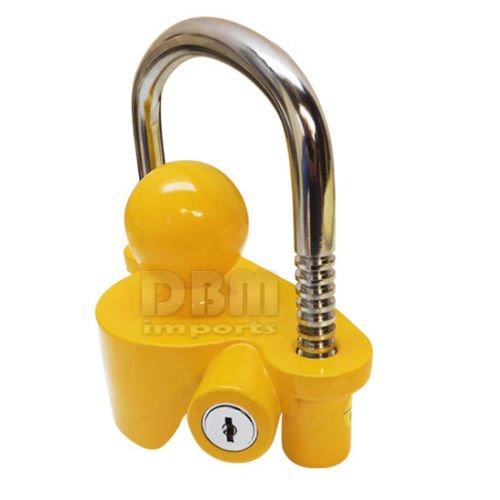 Trailer Coupler Lock Boat Marine RV Tractor Hitch Theft Protection 2 Keys Lock
