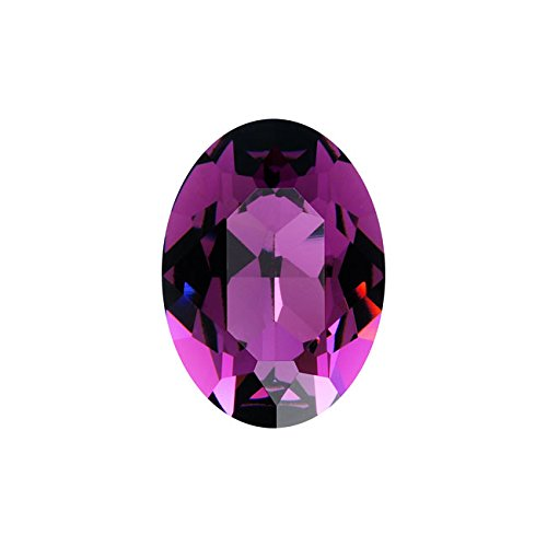 (Swarovski Crystal, #4120 Oval Fancy Stones 18x13mm, 1 Piece, Amethyst F)