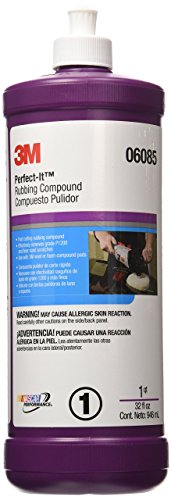 3M Perfect-It Rubbing Compound (06085)  -  For Cars, Boats, Trucks and RVs  - 1 Quart (Best Auto Rubbing Compound)