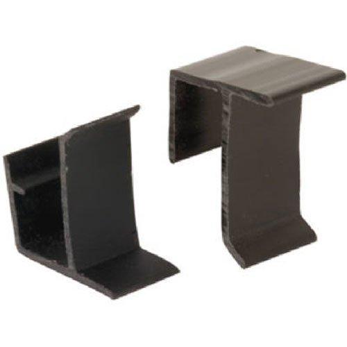 Slide-Co 181960 Screen Frame Retainer Clips, Top and Bottom, Black Vinyl,(Pack of 4)