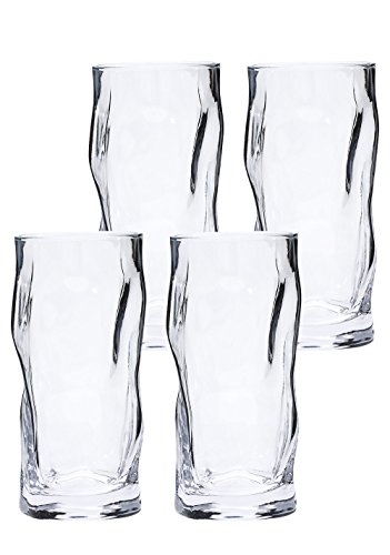 LA JOLIE MUSE Drinking Glasses Water Glass 4 Pack, 18 oz Heavy Based Tumbler Clear Highball Glassware Drinkware for by LA JOLIE MUSE