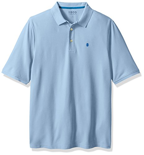 Izod Mens Big And Tall Advantage Performance Solid Polo  Light Blue Revival  2X Large Tall