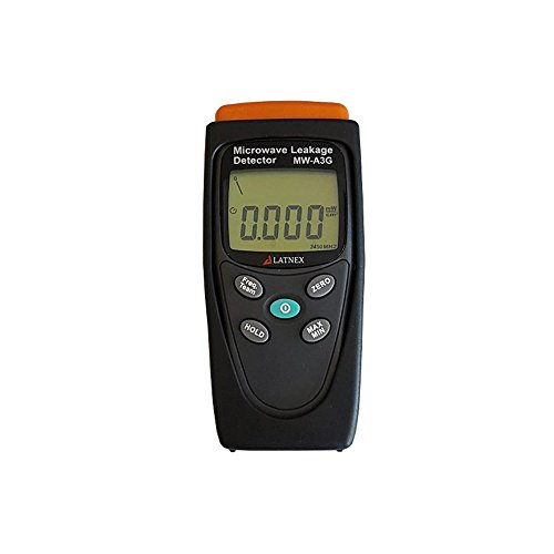 Radiation Detection Meter (LATNEX MW-A3G Proffesional Calibrated Meter Detects Radiation and Leakage from Microwave Ovens & RF Welding Machines & RF Sources - Built-in Alarm - Perfect Tool for Homeowners)