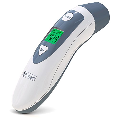 Baby Forehead Thermometer with Ear Function- iProven DMT489 Gray