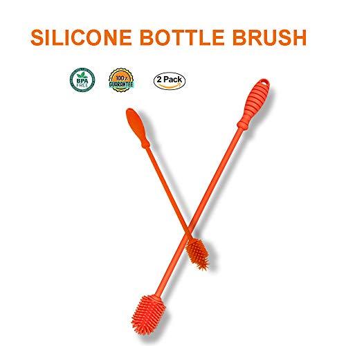 Silicone Baby Bottle Brush 2-PCS Set (15