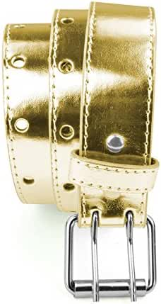 Belle Donne - Girl's Colorful Leather Two Hole Perforated Stylish Jean Belt