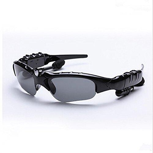 SOYE Black Bluetooth Music Sunglasses hands-free Headset wireless - Sunglass Emporium